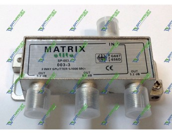 Splitter 3-WAY MATRIX SP-003